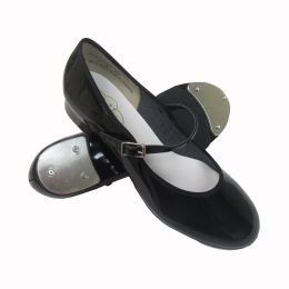 6453A Black Pat Buckle Closure Tap On Tap Shoes ** ONLINE PRICE ONLY**