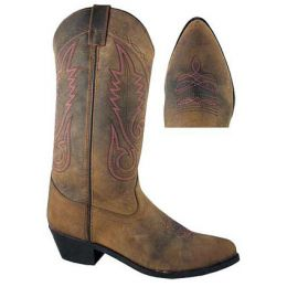 6531 Taos Leather/Pink Stitching Smoky Mountain Womens Western Boots