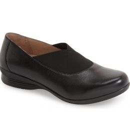 6702-020202 Ann Leather Round Toe Slip On Flat Dansko Womens Shoes