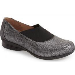 6702-970297 Ann Pewter Metallic Round Toe Slip Dansko Womens Shoes