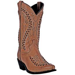 Dan Post Laredo Tan Goat Laramie Mens Snip Toe Western Boots 68432
