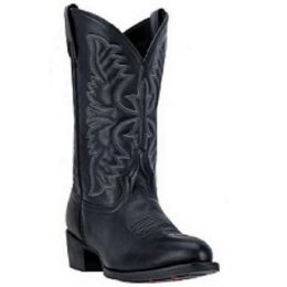 Dan Post Laredo Black Birchwood Mens R Toe Western Boots 68450