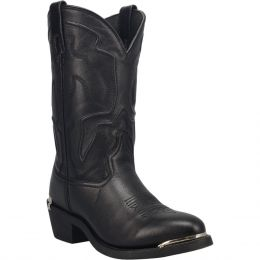 Dan Post Laredo Black Atlas Mens Round Toe Western Boots 68620