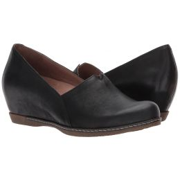 Dansko Black Burnished Nubuck Liliana Womens Comfort Slip On Shoes 6901-101200