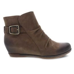 Dansko Mushroom Burnished Nubuck Lia Womens Short Boots 6908-871200