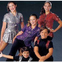 6912A PEP SQUAD GIRLS TOP Dance Recital Costumes