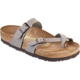 71071 Stone Mayari Birkibuc Womens Birkenstock Sandals
