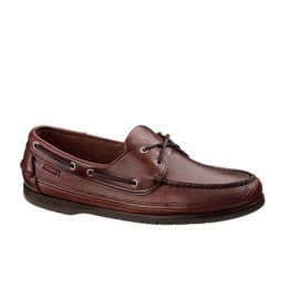 Sebago 2EYE Boat OX Brown Leather Mens Casual 759-43