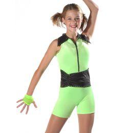 7626 Lime HOT STUFF 7627 Orange 7628 Pink Dance Recital Costumes AD