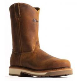 Silverado Men's Brown Pull-On Western Work Boots - Steel Toe 7704ST