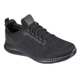 Skechers Black Work Relaxed Fit Cessnock Mens Work Sneakers 77188