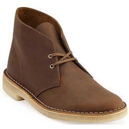 Clarks Desert Boot Beeswax Brown Lea Mens Causal 26138221