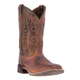 7835 Brown Rustic Rancher Mens Laredo Stockman Boots