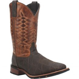 Dan Post Laredo Brown Broad Square Toe Mens Boots 7855