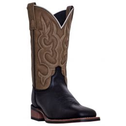 Dan Post Laredo Black/Sand Lodi Mens Square Toe Western Boots 7877 **ONLINE ONLY**