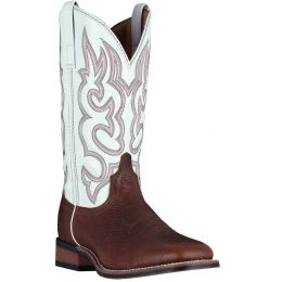 Dan Post Laredo Redwood/White Lodi Mens Square Toe Western Boots 7891 **ONLINE ONLY**