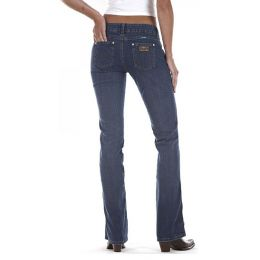 Premium Patch Sadie Ultra Low Rise Boot Cut Wrangler Womens Jeans