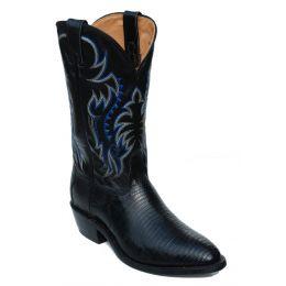 Nocona Lizard Black Mens Boots 8150126403