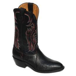 Nocona Lizard Black Cherry Mens Boots 8151215403