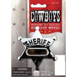 Parris Toys Silver Toy Sheriff Badge 8513C