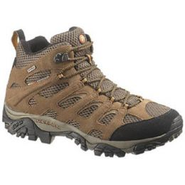 Merrell Moab Mid Waterproof Dura Leather/ Mesh Walnut Mens Hiker 88623