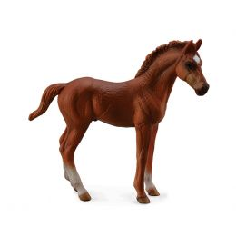 Breyer By CollectA Chestnut Thoroughbred Foal- Standing Toy 88671