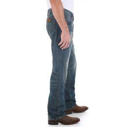 88MWZDK Dark Denim Retro Slim Straight Leg Wrangler Mens Jeans