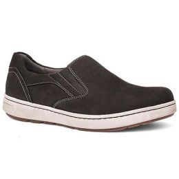 Dansko Viktor Black Nubuck Slip On Water Resistant Comfort Mens Shoes 8900-109300