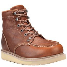 Timberland Rust Full-Grain Barstow Wedge Moc Soft Toe Mens Work Boots 89647