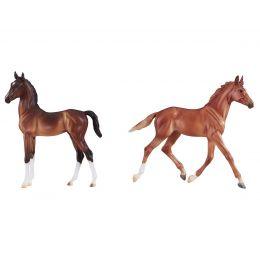 Breyer Best Of British Foal Set - Thoroughbred & Hackney Horse Toy 9198