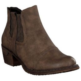 93480-64 Chelsea Brown Fleece Lined Rieker Ladies Ankle Boot