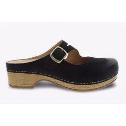 Dansko Black Britney Burnished Nubuck Slip On Women's Comfort Shoe 9422-471600