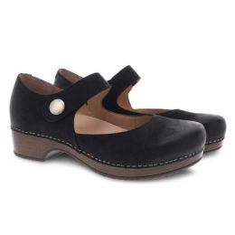 Dansko Beatrice Black Burnished Nubuck Womens Comfort Shoes 9423-477800