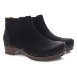 Dansko Black Burnished Nubuck Barbara Womens Comfort Short Boots 9425-107800