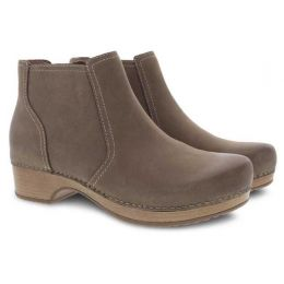 Dansko Barbara Taupe Burnished Nubuck Short Comfort Womens Boots 9425-161600