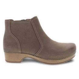 Dansko Barbara Taupe Burnished Nubuck Short Comfort Womens Boots 9425-161600