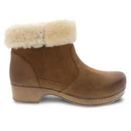 Dansko Bettie Honey Burnished Nubuck Womens Comfort Booties 9428-581600