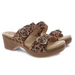 Dansko Sophie Leopard Suede Fully Adjustable Womens Sandals 9841-562200