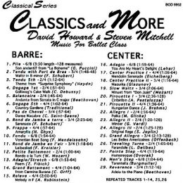BOD9952 Classics and More-David Howard & Steven Mitchell
