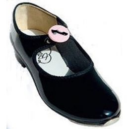A-26 Pink Button Kids Tap Shoe Ties