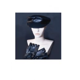 A-119 Vinyl Biker Hat and Gloves Set