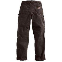 Dark Brown Washed Duck Dungarees Carhartt Mens Work Carpenter Pants