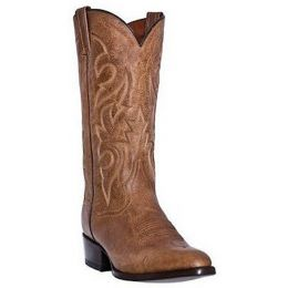 DP2209 Milwaukee Sand Mignon Leather Mens Western Cowboy Boots