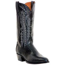 DP2350R Teju Lizard Foot R-Toe Dan Post Mens Western Cowboy Boots