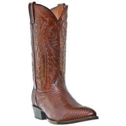 DP2351R Teju Lizard Foot R-Toe Dan Post Mens Western Cowboy Boots