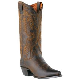 DP3464 Brown Snip Toe Dan Post Womens Western Cowboy Boots
