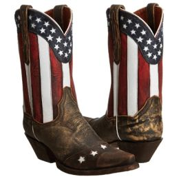 DP3586 Liberty Stars & Stripes Accent Womens Western Cowboy Boots