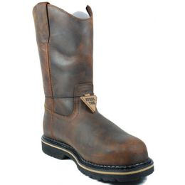 Industrial 11inch Ruff Rider Pull On Steel Toe Mens Work Boots