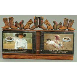 FOTO4 Boots Tabletop Montana Silversmiths Photo Albums
