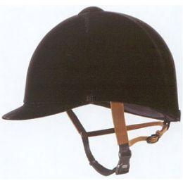 Grand Prix Classic Black Velvet English Riding Helmet